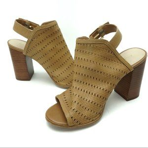 Aldo Tan Sling Back Booties Size 7.5